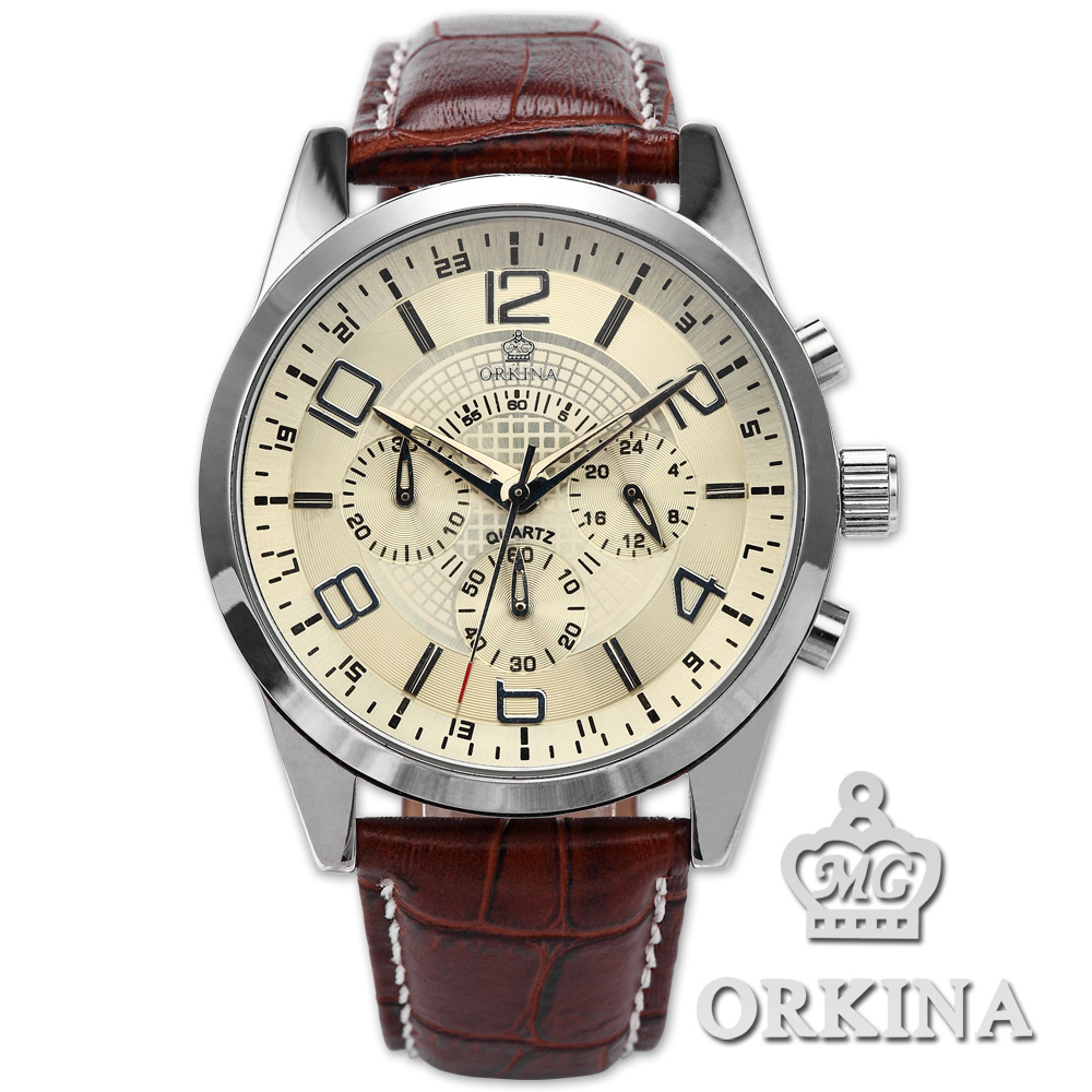 orkina mens 24 hours display stopwatch stainless steel