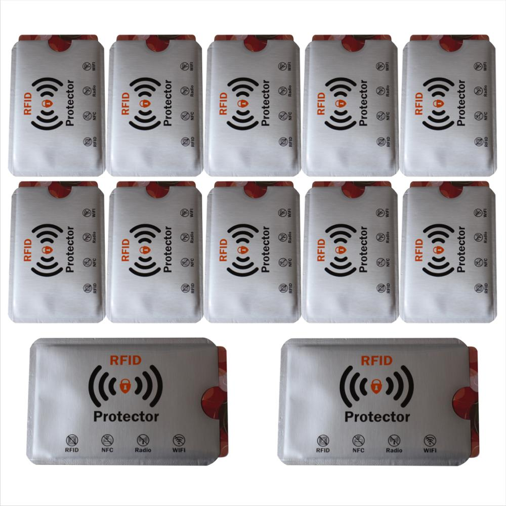 Free Shipping 1000pcs Anti Theft RFID Blocking Card Protector Sleeve To Prevent Unauthorized Scanning of Card