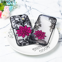 For Samsung Galaxy A5 2017 Case Lace Foral Black Rose Phone Case For Samsung Galaxy A5 2017 Cover For Samsung A5 2017 Case A520 смартфон samsung galaxy a5 2017 32gb black