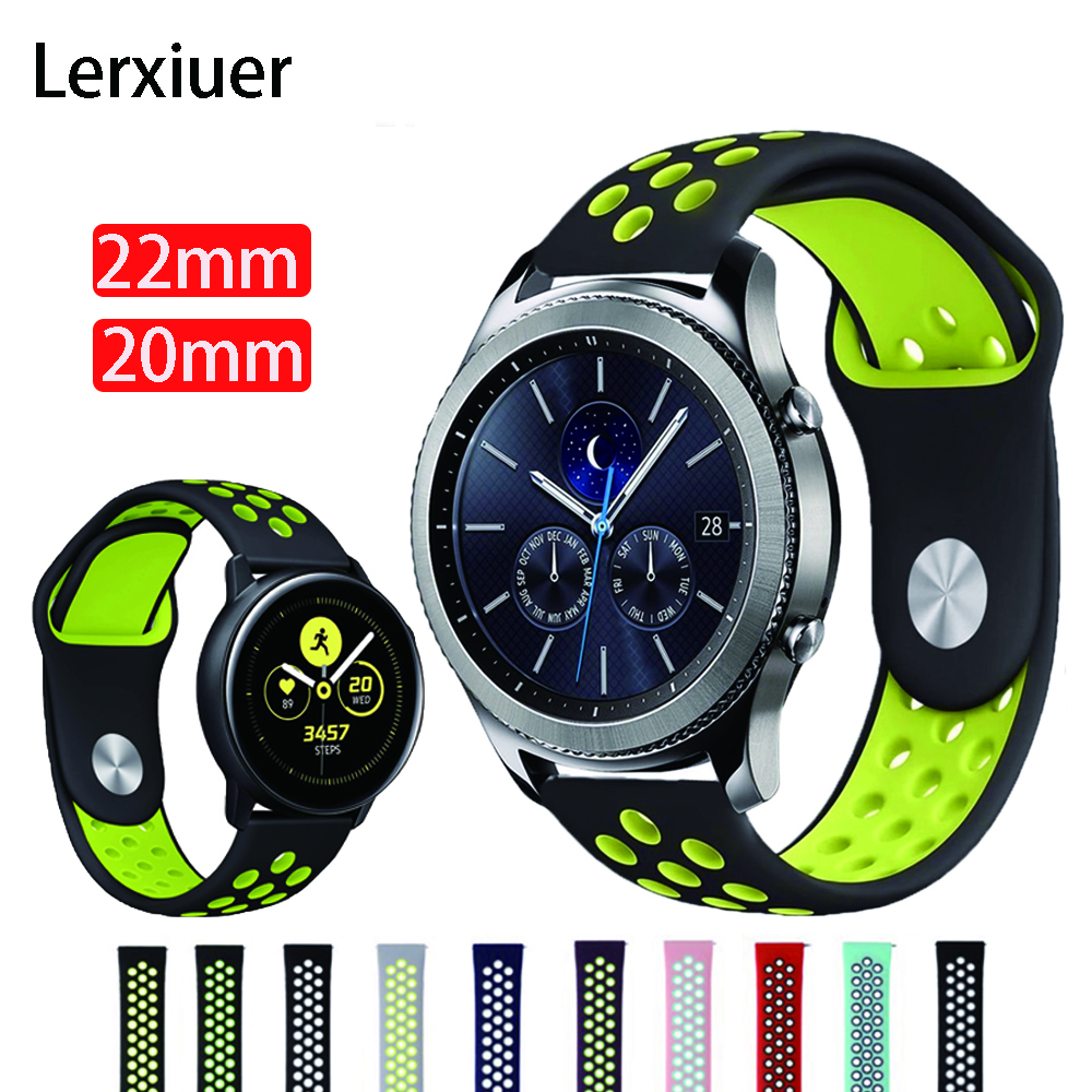 For Samsung Galaxy Watch Active 2 46mm 42mm Gear S3 Frontier Classic S2 Huami Amazfit Bip Strap Huawei Watch GT 2 Band 22mm 20mm