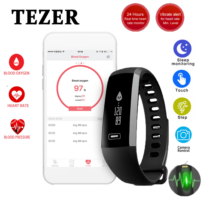 Original <font><b>R5</b></font> <font><b>pro</b></font> sports Smart Fitnes Wrist band Bracelet Bluetooth 4.0 Passometer Sleep Monitor Alarm black Message/call Reminder image