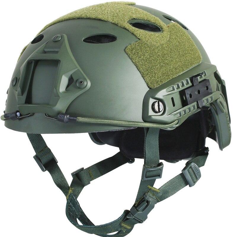 Armée Militaire Tactique Casque Rapide PJ Couverture Casco Airsoft Casque Sport Accessoires Paintball Rapide Saut De Protection Visage Masque