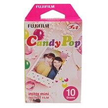 Candy Pop Instax Mini 8 filme Fujifilm originais (10 folhas) para Polariod mini Câmera Instantânea mini 7 s 25 50 s 90 300 Share SP-1
