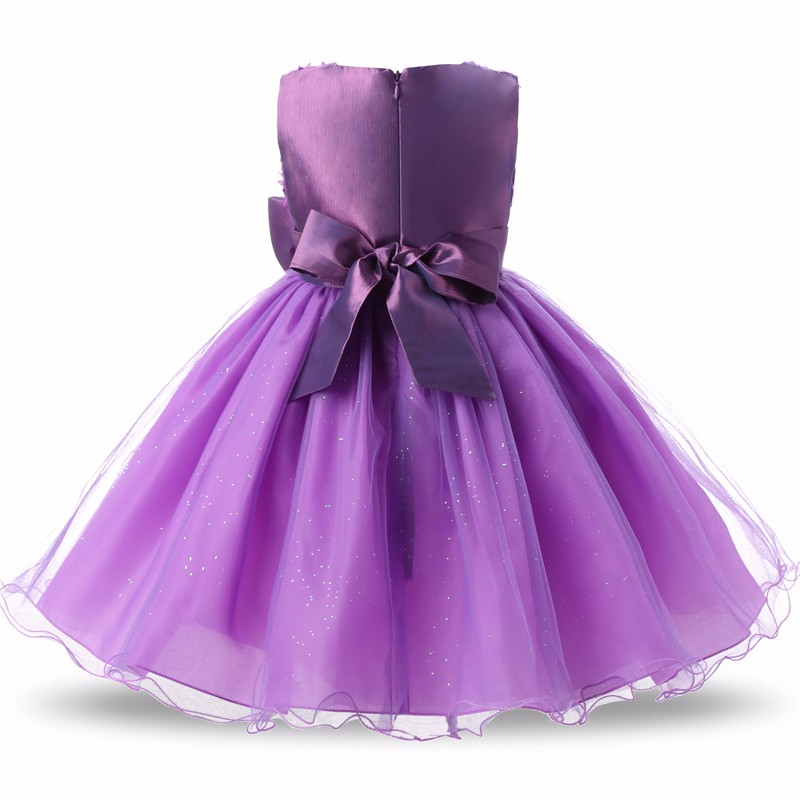 Princess Flower Girl Dress Summer 2017 Tutu Wedding Birthday Party Dresses For Girls Children's Costume Teenager Prom Designs 4