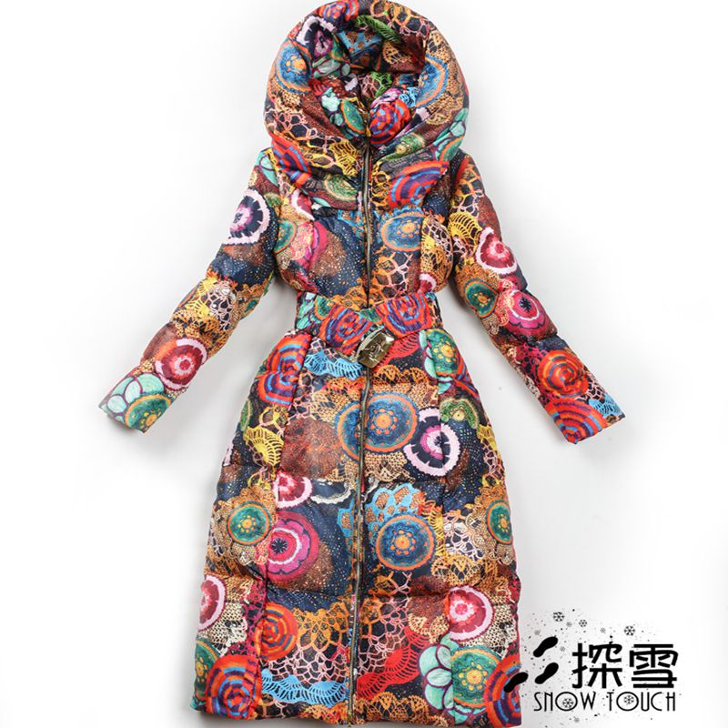 2017 Promotion Time-limited Full Ukraine Coat Winter Long Women Jacket Printing Cotton Slim Large Size Thicker Warm Overcoat 2015 real promotion space cotton coat jacket bolsa cherry free herbal tea wholesale agent huang ju oem processing one generation