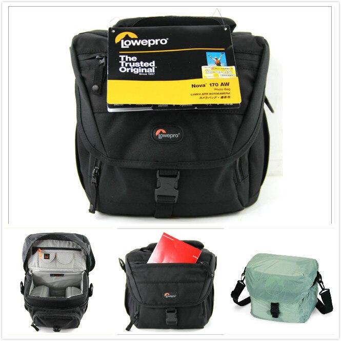 Lowepro Nova 170AW Professional DSLR font b Camera b font Shoulder Bag Photo Case for Canon