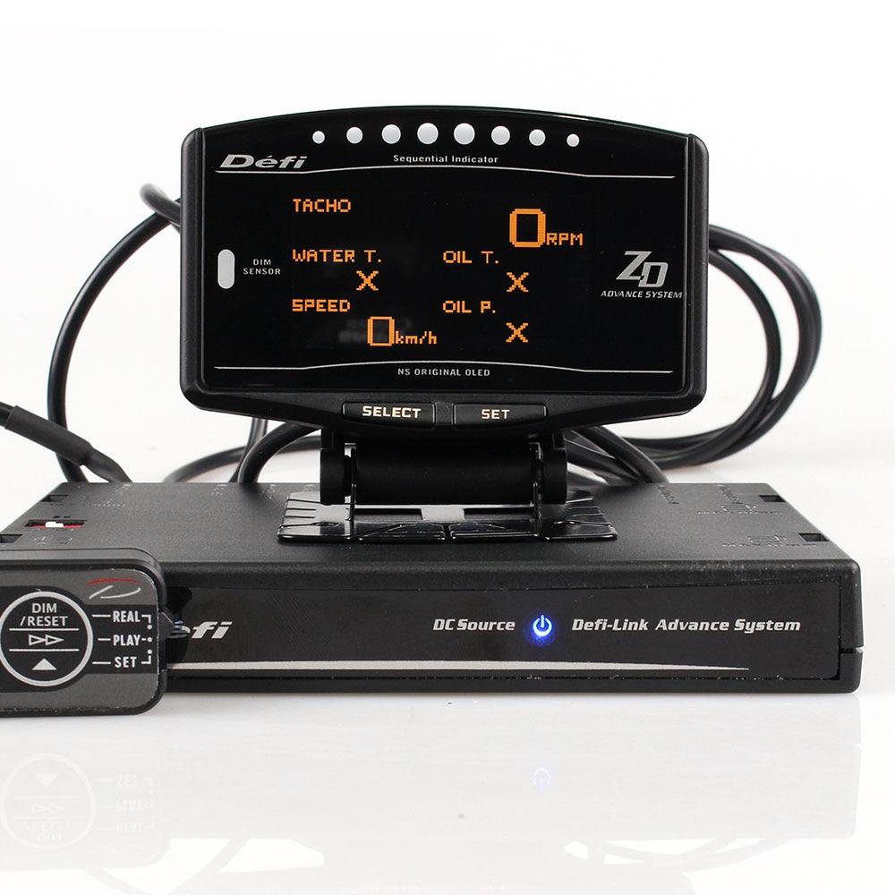 Kit completo Pacote de Esportes 10 em 1 BF CR C2 ZD Antecedência DEFI Ligação Medidor EXT TEMP Medidor Digital Automática