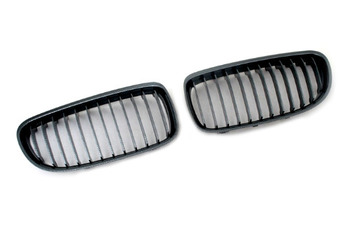 Carbon Fiber Style Sport Front Grille Replacement For BMW E90 3 Series (Facelifted)