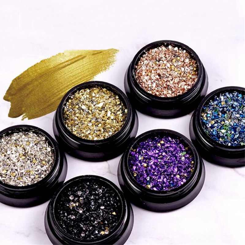 Mixed Glitter Nail Art Decorations Mini Bead Zircon Box 3D Manicure Metal Accessory Shell Stone Strass Jewelry for Tips