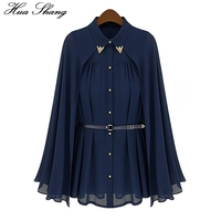 Easy Shawl Cloak Style Chiffon Shirt Cardigan In Korean Version 2015 Summer Sun Dress Length Shirt