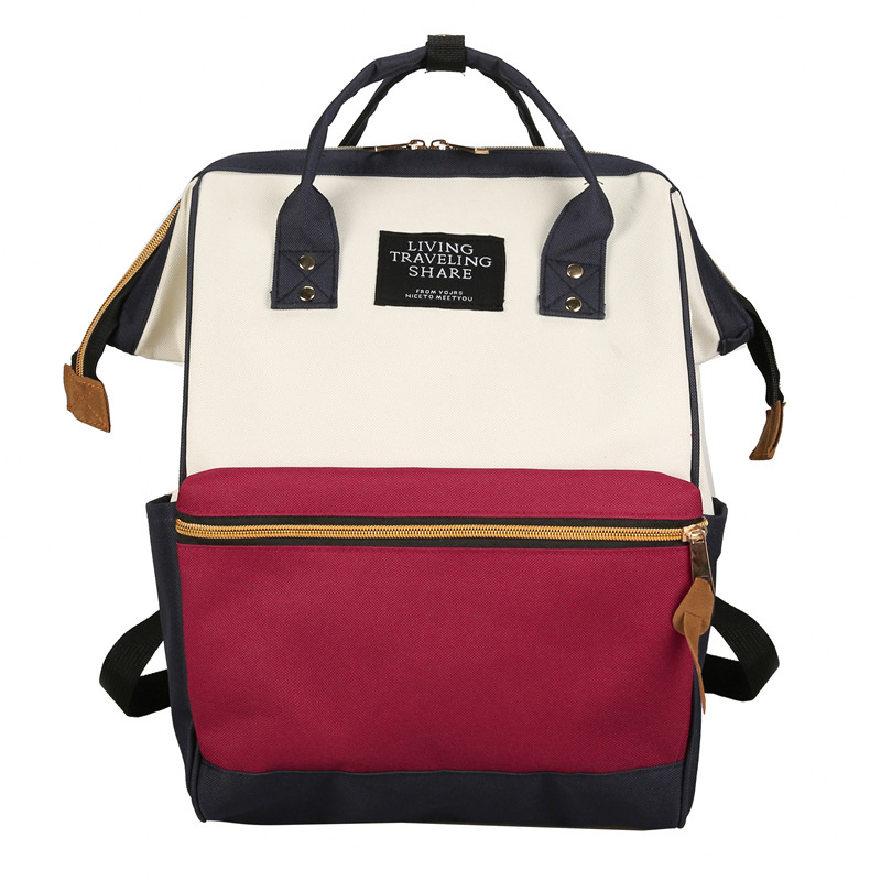 School Backpack Women A Ring Schoolbag Back Pack Leisure Laptop Travel Bags for Teenage Girls pink print letter school backpack women school bag back pack leisure korean ladies knapsack laptop travel bags for teenage girls
