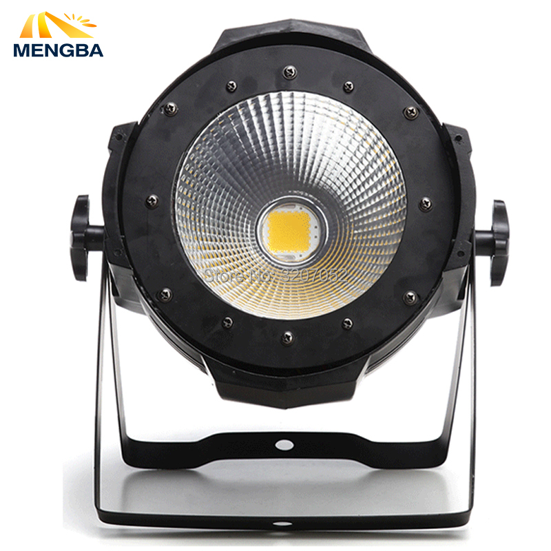 High Power COB 100W LED Par Light Aluminium DJ DMX Led Beam Wash Strobe Effect Warm and White Double Color Stage Lighting splicing 2 light led blinders with 100w led cob x2 amber cold white color for audience blinding color warm