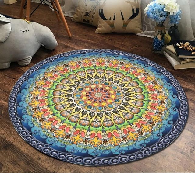 Nuevo círculo Esterillas de yoga estilo de Europa bandera jacquard ...