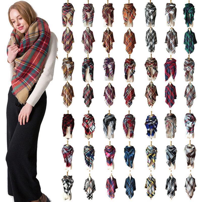 Fashion Winter Warm Cashmere Scarves Print Pattern High Quality Long Tassels Women Thicken Wrap Shawls Ladies Wool Pashmina