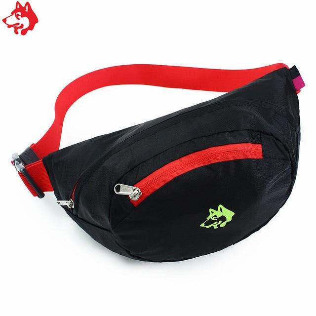 Best selling CY-3000 small folding outdoor running sports jog fanny pack bag Black Blue men & women's  canter  jogging waist bag