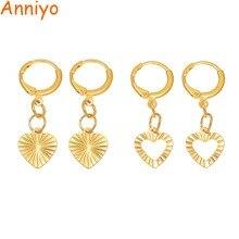 Anniyo Small Heart Earring for Girls Kids Child Kiribati Jewelry Birthday Best Gift Gold