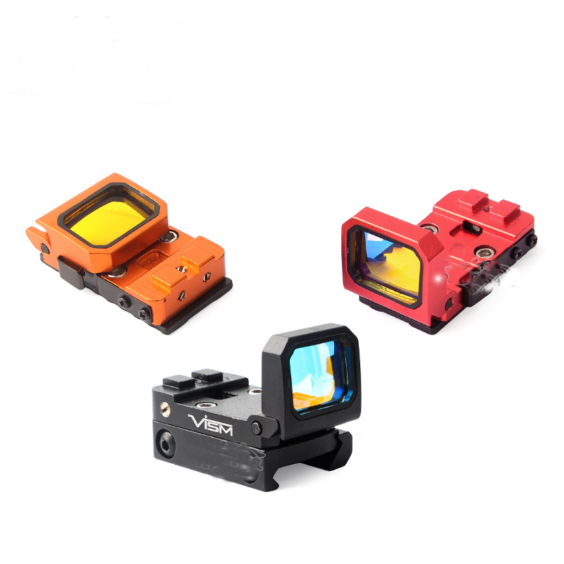 SEIGNEER Tactical Vism Flip Red Dot Pistol Sight Holographic Reflex Docter Sight With G-Mount For 20mm Rail