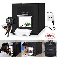New 40cm Mini Foldable Studio Light Box Portable Photography Box Photo 30W 64 Led Kit Tent Cube With White Black Backdrop