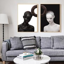 Art Body Nordic Poster and Print Black White Modern Canvas Painting Abstract Wall  Picture Girls Bedroom Home Decoration