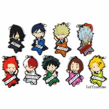 My Hero Academia Rubber pendant Japanese comic cartoon anime Action Toy Figures Mobile Phone Accessories strap Keychain