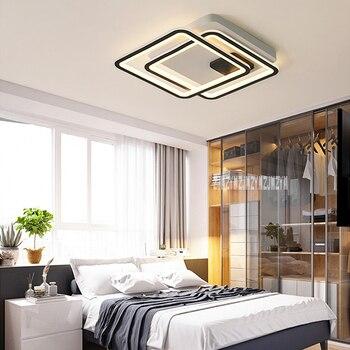 Nordic Criativo Conduziu A Lâmpada Do Teto Quadrado Moderno Conduziu A Lâmpada Do Teto Personalidade Quarto Estudo Sala De Iluminação Luz De Teto 110 V/220 V