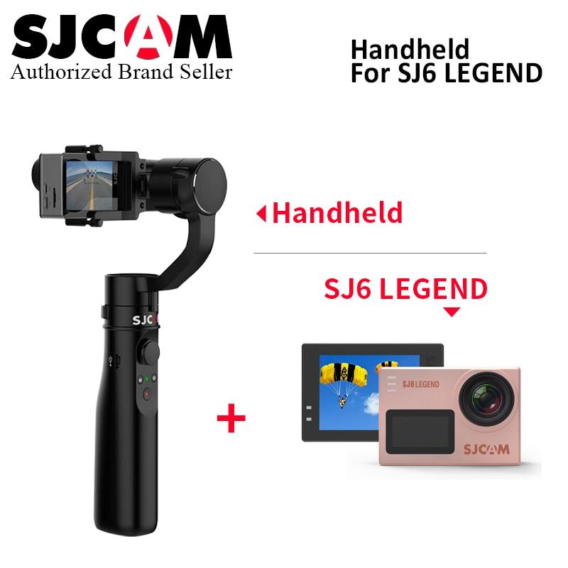 все цены на Original SJCAM SJ6 LEGEND 4K 24fps Ultra HD Notavek 96660 Waterproof Action Camera match with 3-axis Handheld Stabilizer gimbal онлайн