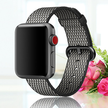 Breathable Nylon Sport Loop Band for  watch series 3 2 1 strap for  42MM 38 colorful watchband buckle 1