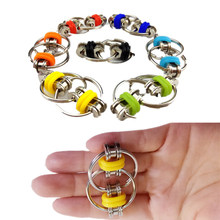 Hand Spinner Tri-Spinner Reduce Stress EDC Fidget Toy For Autism ADHD Key Ring Fidgetde Toy Fingertip Decompression Chain 2019(China)