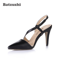 capputine new arrival italian style woman shoes and bags set 2018 shoes with matching bag set lady dress party shoes bl0021 Batzuzhi Italian Style 9cm Women Shoes Pointed Toe Black Leather Women Pump Shoes Buckle Strap Office Party Dress Shoes