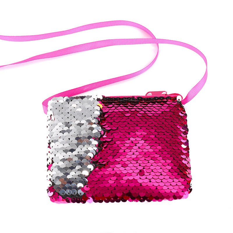 High quality  Mermaid Sequins Coin Purse Wallet Kids Girl Glittering Purse Handbag Party Zipper Clutch Bag Earphone Package