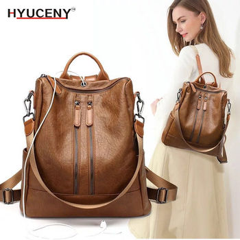 2018 Fashion Women Backpack High Quality Youth Leather Backpacks for Teenage Girls Female School Shoulder Bag Bagpack mochila high quality women genuine leather backpacks casual female anti theft backpack for girls shoulder bags mochila feminina bagpack