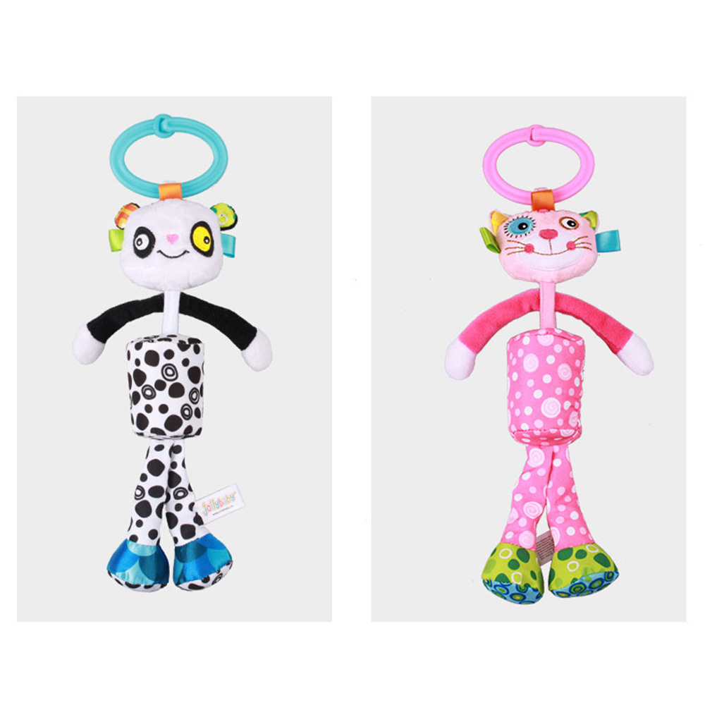 Soft Plush Rattle Cartoon Wind Chimes kids Stroller Bed Hanging Bell Toys Hot OS