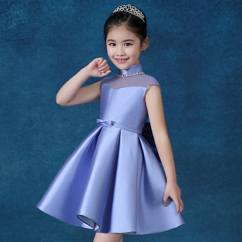 ФОТО Princess dress ball gown wedding perform beading sleeveless flower girl dresses