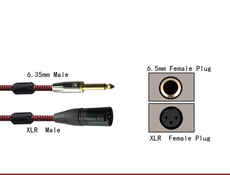 """1m 2m 3m 3pin XLR Male to 6.35mm 1/4"""" Mono Male Audio Cable For Professional Stage DJ Studio Cable Mixer Console Microphone Wir"""
