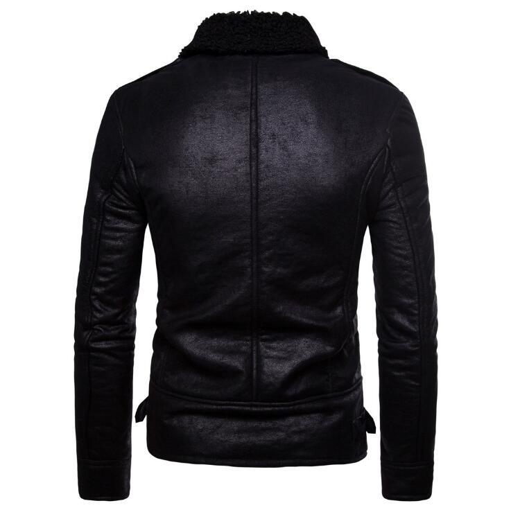 Fourrure Pu Noir S Cuir De Mâle Manteau xxl Garder Chaud D'hiver Nouvelle Vêtements Européenne Taille Au Automne Et Hommes Chaude Marque 2019 Veste Mode En AqBwSR8Hz