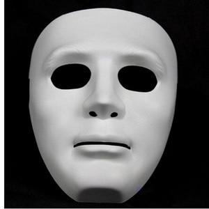 Image 2 - ליל כל הקדושים המפלגה DIY מפחיד מסכות לבן מלא פנים קוספליי מסכות פנטומימת מסכת מסכות כדור מסיבת תחפושות