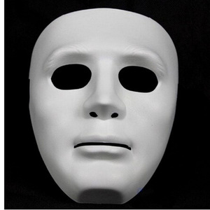 Image 2 - Halloween Party DIY Scary Masks White Full Face Cosplay Masquerade Mime Mask Ball Party Costume Masks