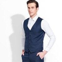 men suits vests 50% wool brand mens clothing high quality slim fit man vest formal black grey black business groom stage wear