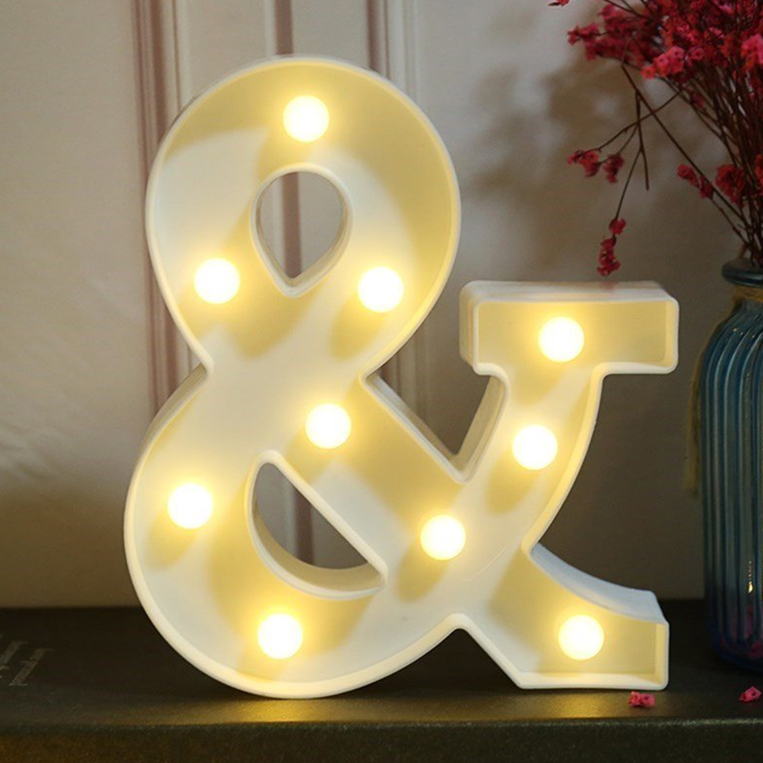 New 3D & White Letter LED Marquee Sign Alphabet Light Indoor Wall Hanging Night Light Bedroom Wedding Birthday Party DecorNew 3D & White Letter LED Marquee Sign Alphabet Light Indoor Wall Hanging Night Light Bedroom Wedding Birthday Party Decor