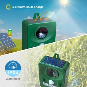 Image 4 - 45MA (HZ) Solar Powered Ultrasonic Outdoor Pest Repeller สัตว์เปิดใช้งาน Repellent Pest สัตว์ควบคุมหนูสวนอุปกรณ์
