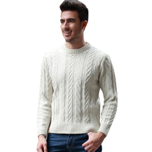 New Arrival Autumn&Winter Men Thicker O-Neck Sweater Fashion Solid Color Warm Cashmere Sweater High Quality Loose Korean Styl