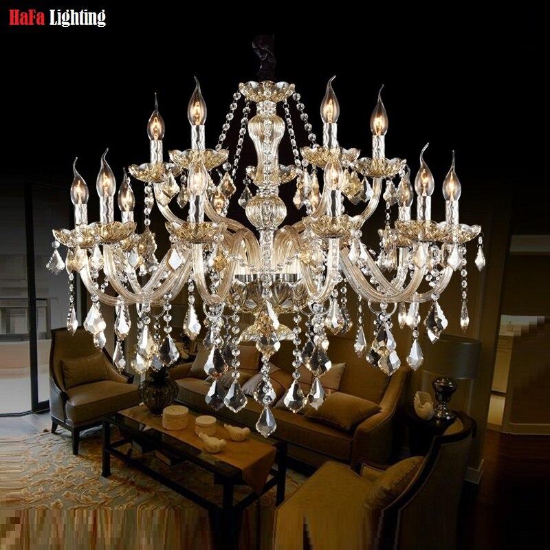 K9 Lustre de cristal para Sala de estar quarto Decoração Tiffany lustres de cristal Pingentes e Lustres de Casa luzes Interiores