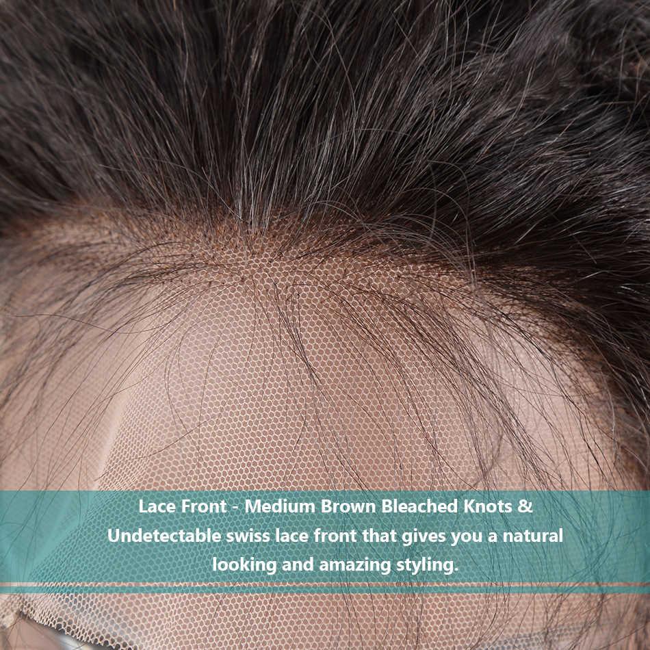 Wigirl Волосы Бразильские глубокие волнистые Безглютеновые полные кружевные человеческие волосы парики 100% человеческих девственных волос с естественным волосом полный парик шнурка