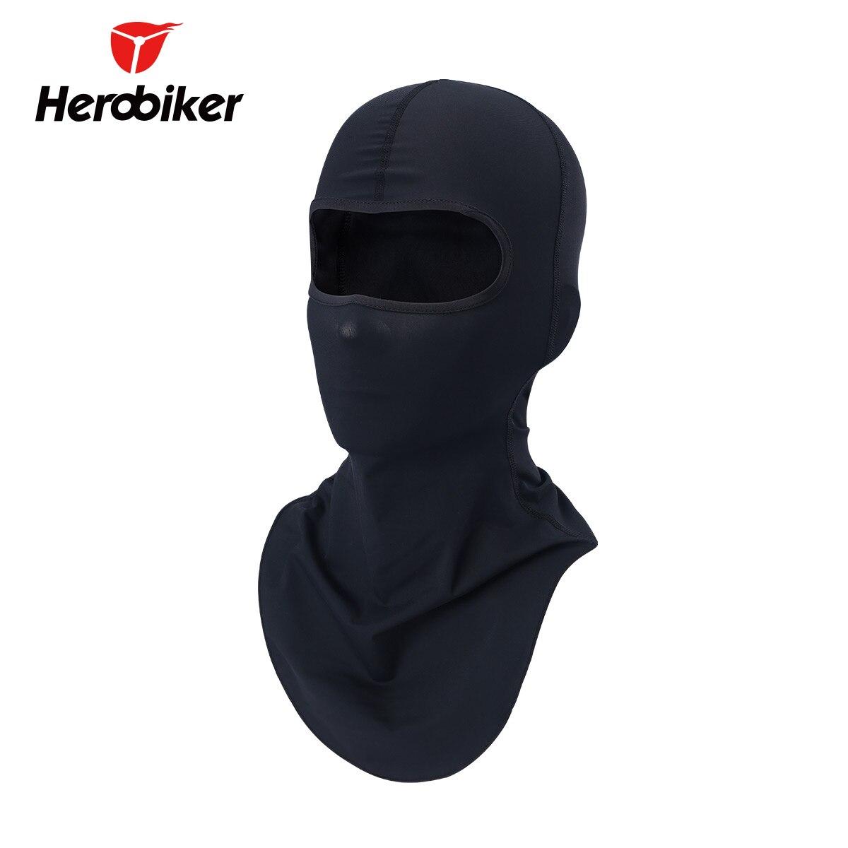 HEROBIKER Men Black Balaclava Moto Mask Windproof Face Mask Motorcycle Face Mask Cycling Bike Skiing Military Tactical Paintball