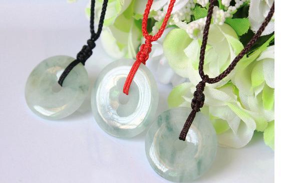Аутентичные Природный бирманский камень кулон резной пончик ожерелье обувь для мужчин и  ...