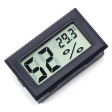 Digital LCD Thermometer Hygrometer Mini Electronic Temperature Humidity Sensor Meter Built-In Probe FY-11 48*28.6*15.2mm