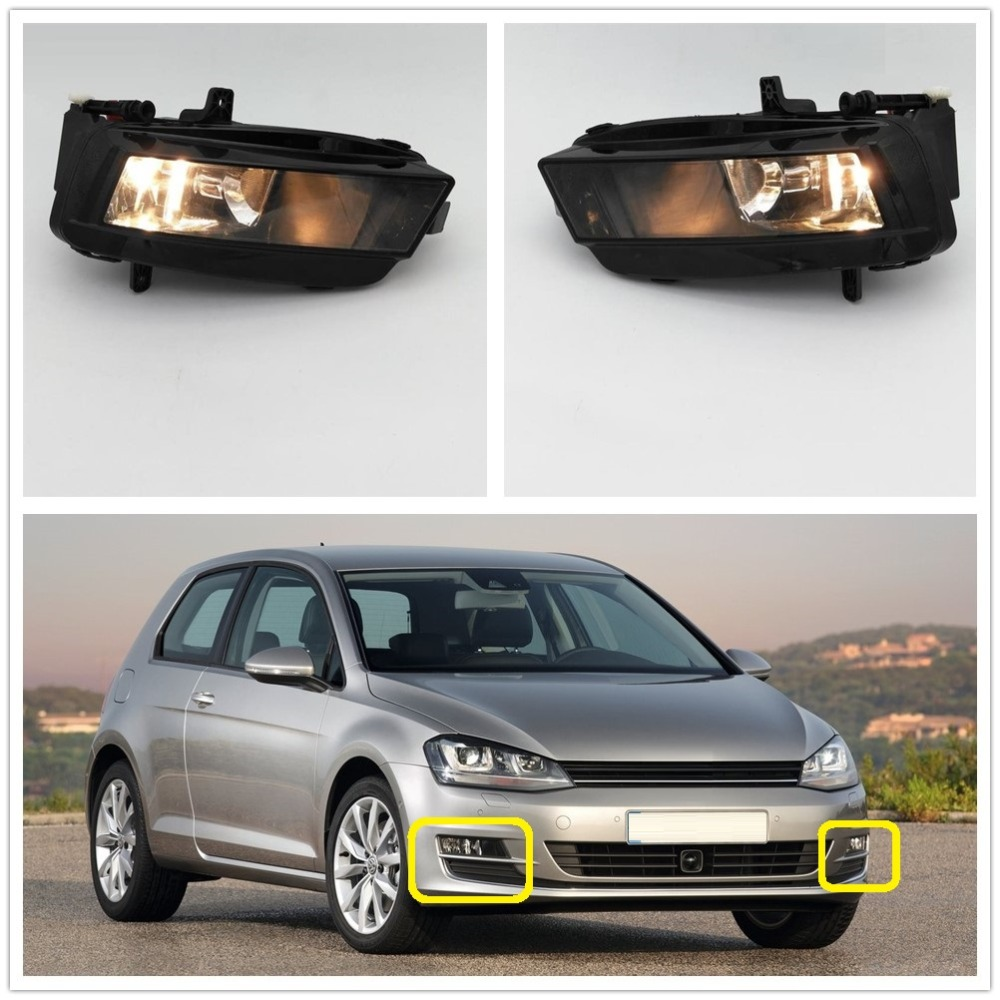 Car Light For VW Golf 7 GOLF MK7 VII TDI GTI TGI TSI 2012 2013 2014 2015 2016 2017 Car-styling Fog Light Fog Lamp With Bulbs