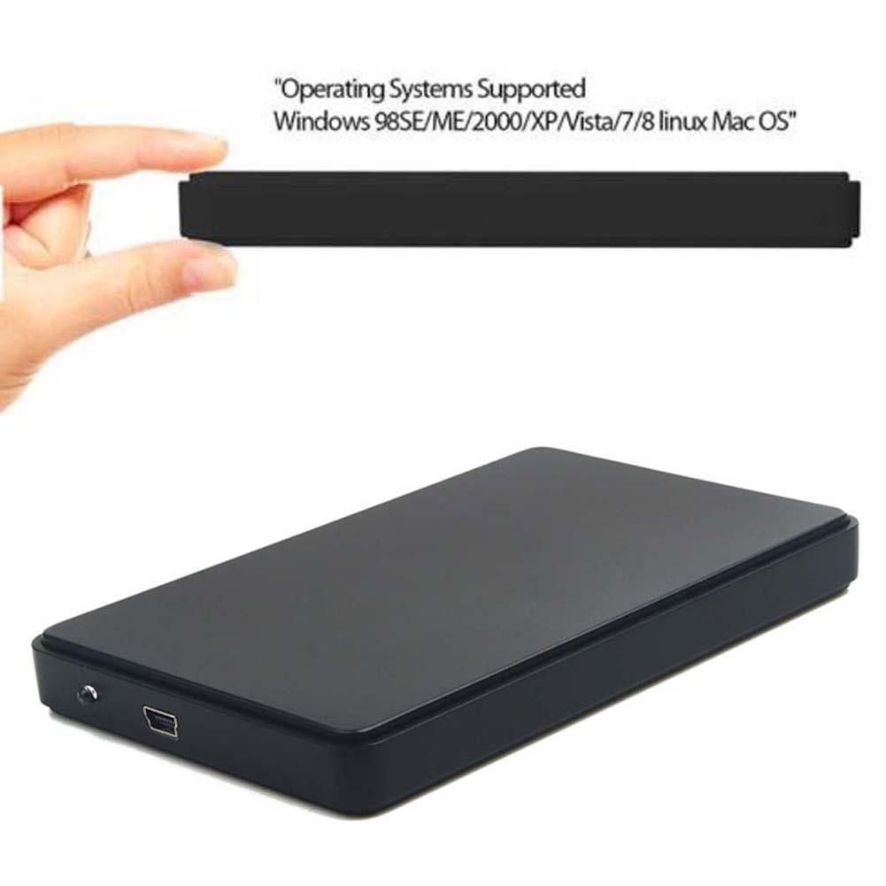 2.5 Inch Black Sata USB2.0 Hard Drive HDD Enclosure External Laptop Disk Case