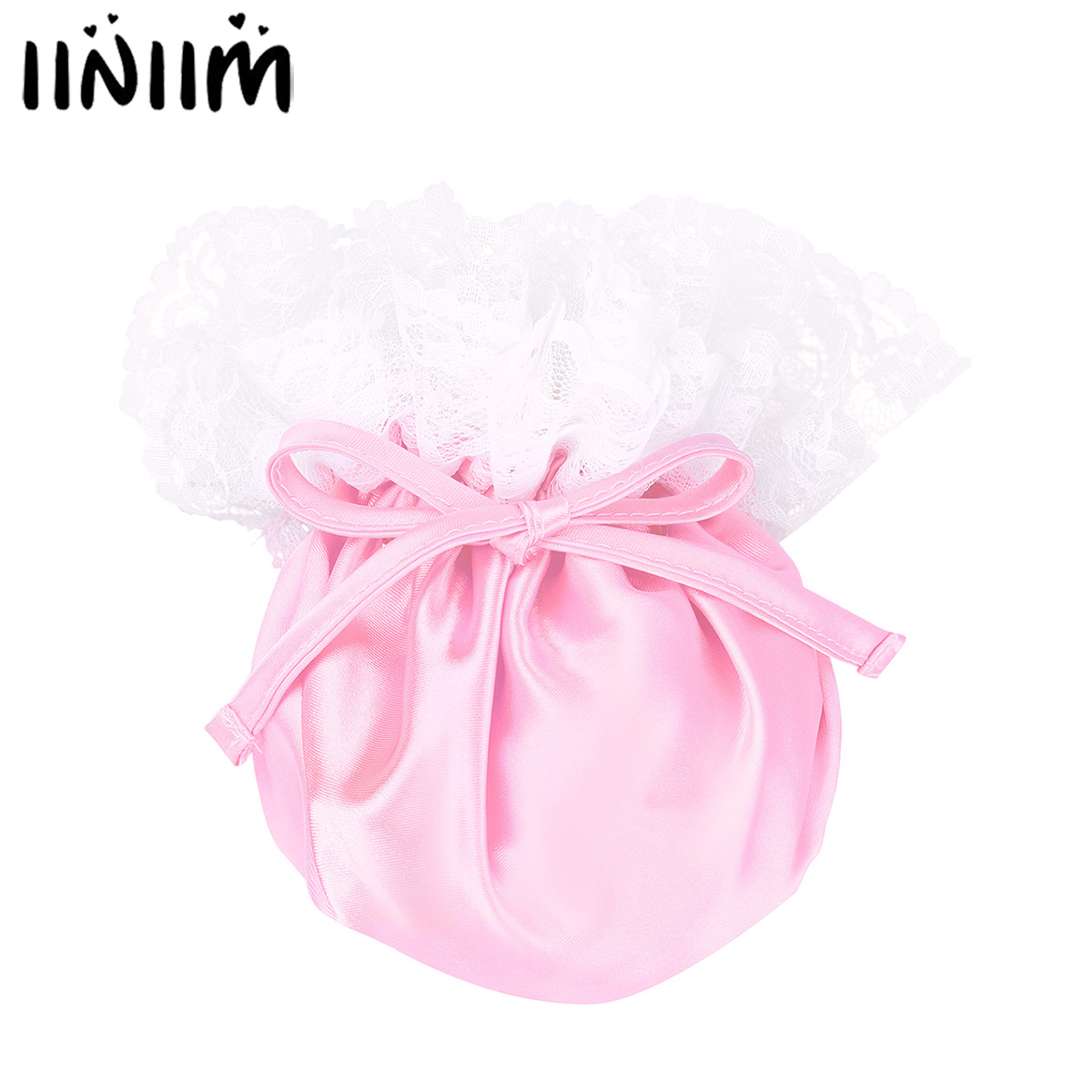 Adult Mens Sissy C-String Lingerie Gay Male Panties Floral Lace Elastic Drawstring Satin Male Bulge Pouch Mini Briefs Underwear