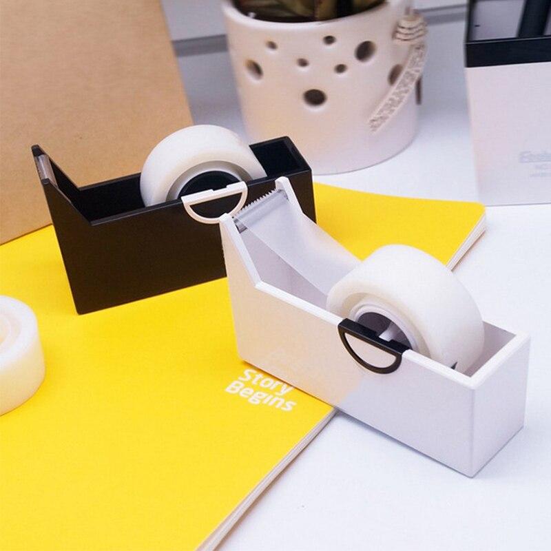 2Pcs White/Black Grafting Eyelash Cutter Eyelash Extension Tool Tape Cutting Sealing Tool Eyelash Adhesive Tape Holder